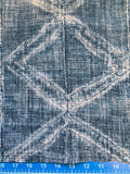 Mudcloth Style Fabric by the yard / Home Decor Fabric / Blue Upholstery Fabric / Home Decor fabric / Grey Black Mudcloth Fabric - Annabel Bleu