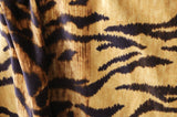 Ombré Tiger Velvet Upholstery Fabric by the yard / Gold Orange Velvet Home Fabric / High End Upholstery Velvet / Vintage Cotton Velvet - Annabel Bleu