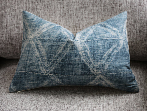 Mudcloth Style Pillow Cover in Charcoal Grey: Available in 10 Sizes - Annabel Bleu