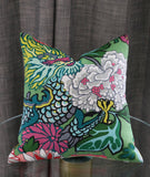 Kazo: Schumacher Chiang Mai Dragon Pillow Cover, Jade - Annabel Bleu