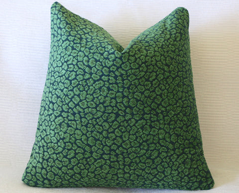 18x18 Green Blue Pillow Cover / 10 size options / 18x18 Accent Pillow / 18x18 Decorative Throw Pillow / Teal 18x18 / Velvety Green Chenille - Annabel Bleu