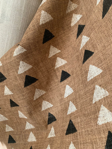 Mudcloth Upholstery Fabric by the yard / Home Decor Fabric / Rust Upholstery Fabric / Heavy weight fabric / Cream Black Mudcloth Fabric - Annabel Bleu