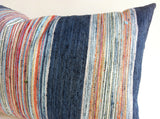 Rodica: Multicolor Striped Woven Pillow Cover - Annabel Bleu