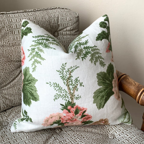 Schumacher Fern Garden Pillow Cover 16x16 - Annabel Bleu