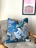 Chiang Mai Dragon Pillow Cover / 20x20 Schumacher Pillow / 22x22 Chinoiserie Pillow / 24x24 Pillow / 14x36 Schumacher Cushion cover - Annabel Bleu