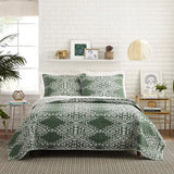 Justina Blakeney Green Aisha Quilt Set - Annabel Bleu