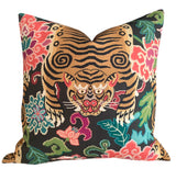 Tiger Floral Pillow Cover: Available in 8 Sizes - Annabel Bleu