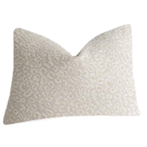 Navy Leopard Pillow Cover / Indigo Chenille Leopard: Available in 10 Sizes - Annabel Bleu