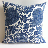 Indigo + Cream Batik Pillow Cover - Annabel Bleu