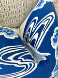 Schumacher Tree River Pillow Cover / Deep Blue & Ivory - Annabel Bleu