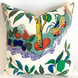 "Citrus Garden ""Primary"" Decorative Pillow Cover / Schumacher Josef Frank pillow cover / Citrus Garden 20x20 22x22 24x24 26x26 Schumacher Pillow - Annabel Bleu"