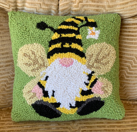 Tiny Gnome Bee Hook Pillow - Annabel Bleu