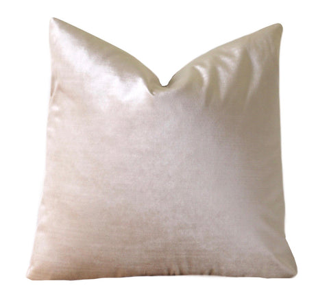 Hazel: A Cream Velvet Pillow Cover - Annabel Bleu