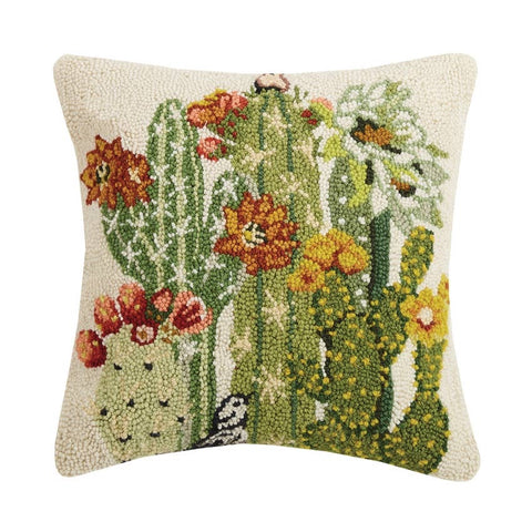 Cactus Floral Hook Pillow - Annabel Bleu
