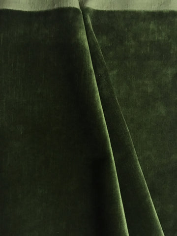 Cypress Green Upholstery Fabric by the yard / Dark Green Velvet Home Fabric / High End Upholstery Velvet / Vintage Upholstery Velvet - Annabel Bleu