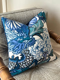 Chiang Mai Dragon Pillow Cover / 20x20 Schumacher Pillow / 22x22 Chinoiserie Pillow / 24x24 Pillow / 14x36 Schumacher Cushion cover
