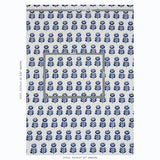 Schumacher Navy Rosenborg Hand Print Linen Fabric by the Yard - Annabel Bleu