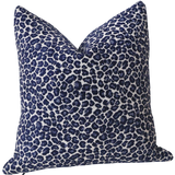 Indigo Chenille Leopard Pillow Cover : Available in 10 Sizes - Annabel Bleu