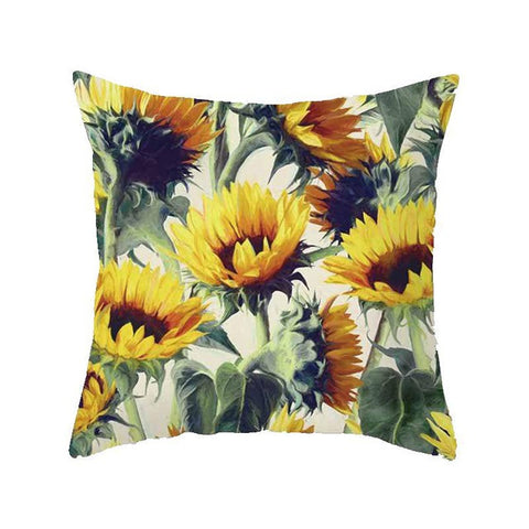 Monica: Sunflower Pillow Cover - Annabel Bleu
