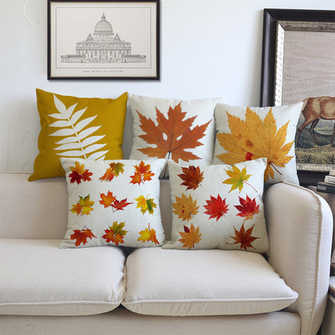 Autumn Maple Leaf Fall Pillow Covers - Annabel Bleu