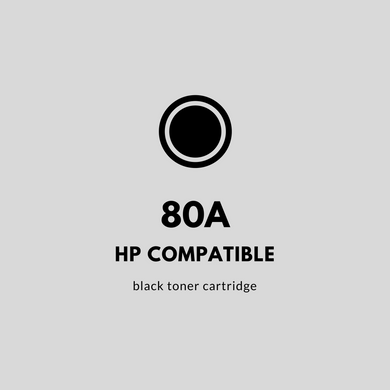 HP 80A (CF280A) Compatible | Black Toner Cartridge