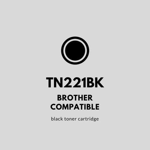 Brother 221BK Compatible Black Toner Cartridge