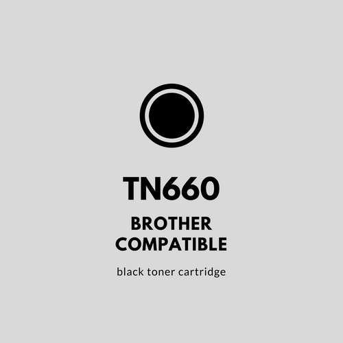 Brother TN660 Compatible Black Toner Cartridge