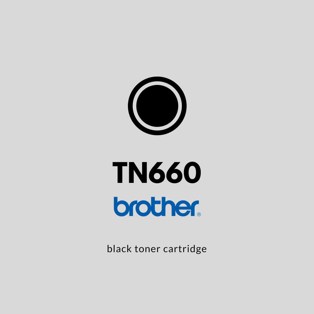 Brother TN660  | OEM | Black Toner Cartridge