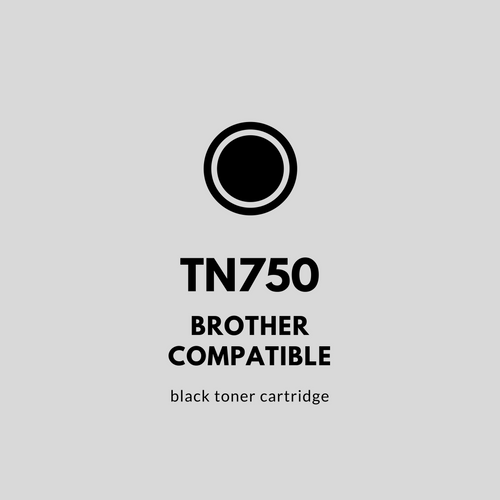Brother TN750 Compatible | Black Toner Cartridge