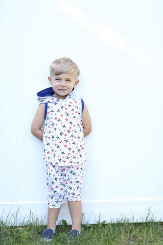 Boys hoodie tank and harem shorts set