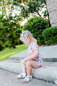 Strawberry Cora Romper