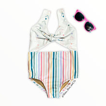 Load image into Gallery viewer, Arrows and stripes Skylar Swim suit
