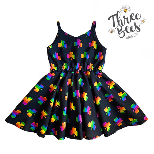 Rainbow shamrock Lola dress
