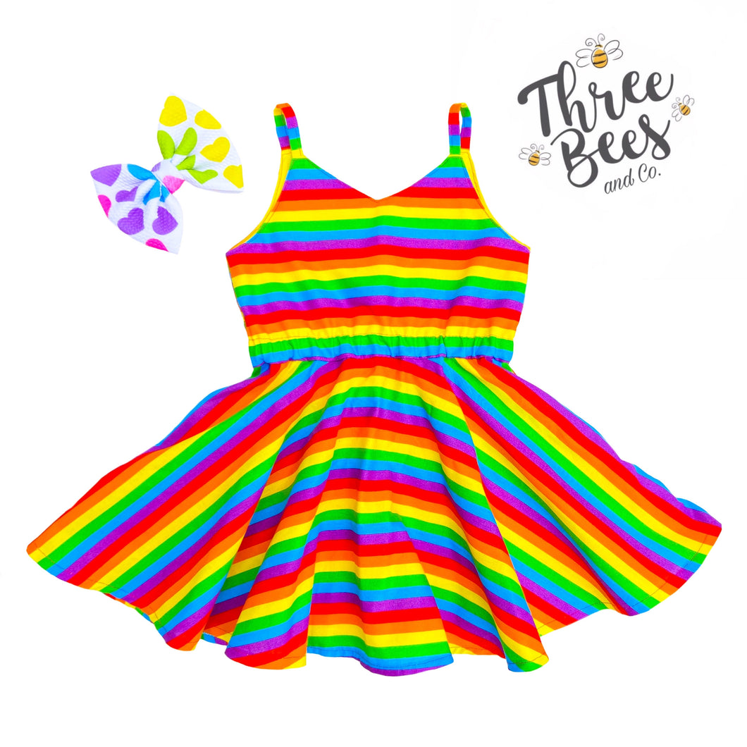 Primary Rainbow stripe