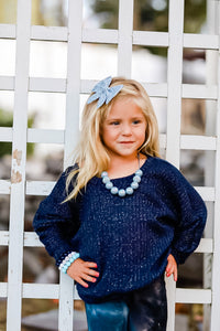 Navy sparkle lounge sweater