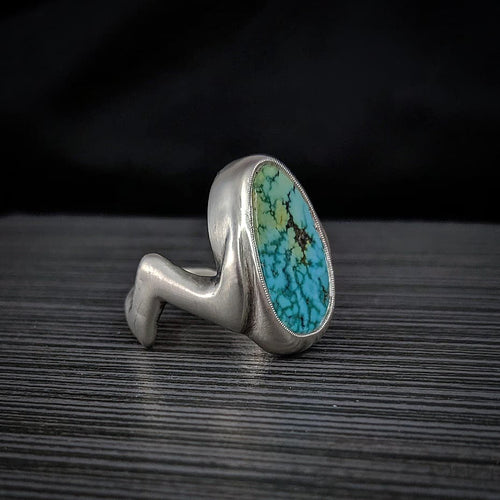 Zig-Zag Blue Moon Turquoise Ring