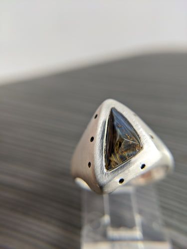 Pietersite Triad Ring