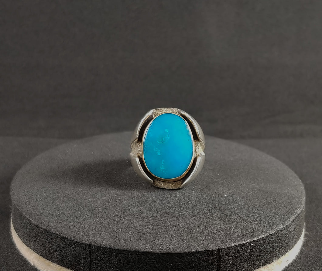 Turquoise with Gold Bezel