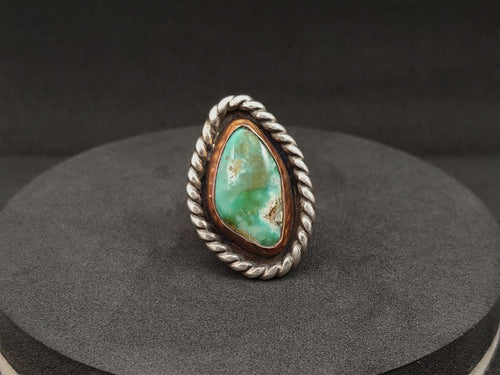 Turquoise w/ Copper Bezel Ring