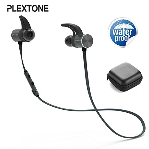 Plextone BX343T Bluetooth Headphones Magnetic, Hi-Fidelity Sport Earbuds Waterproof IPX5 for Running