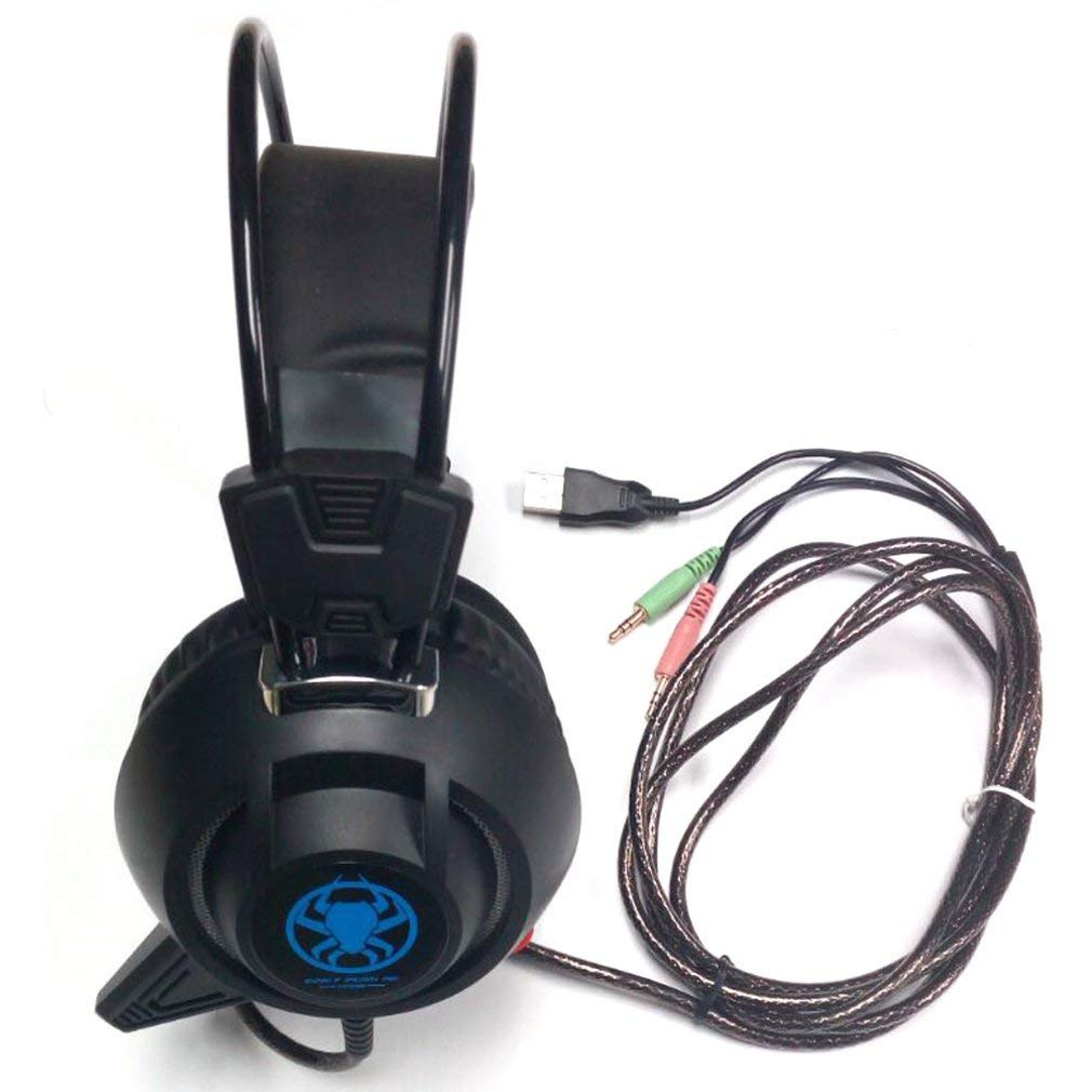 PC835 Gaming Headset,USB LED Game Lighting Headset For PC Notebook Computer Earphone Headset with Mic 2.2 m Cable