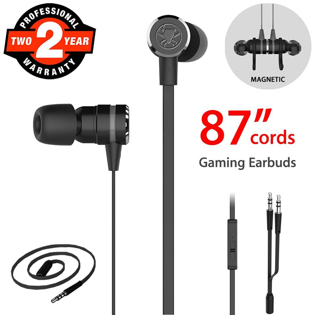 Plextone G20 Gaming In-Ear Headphones with Microphone 86 Inch Long Cord for Computer, iPhone, Samsung, Laptop, PSP