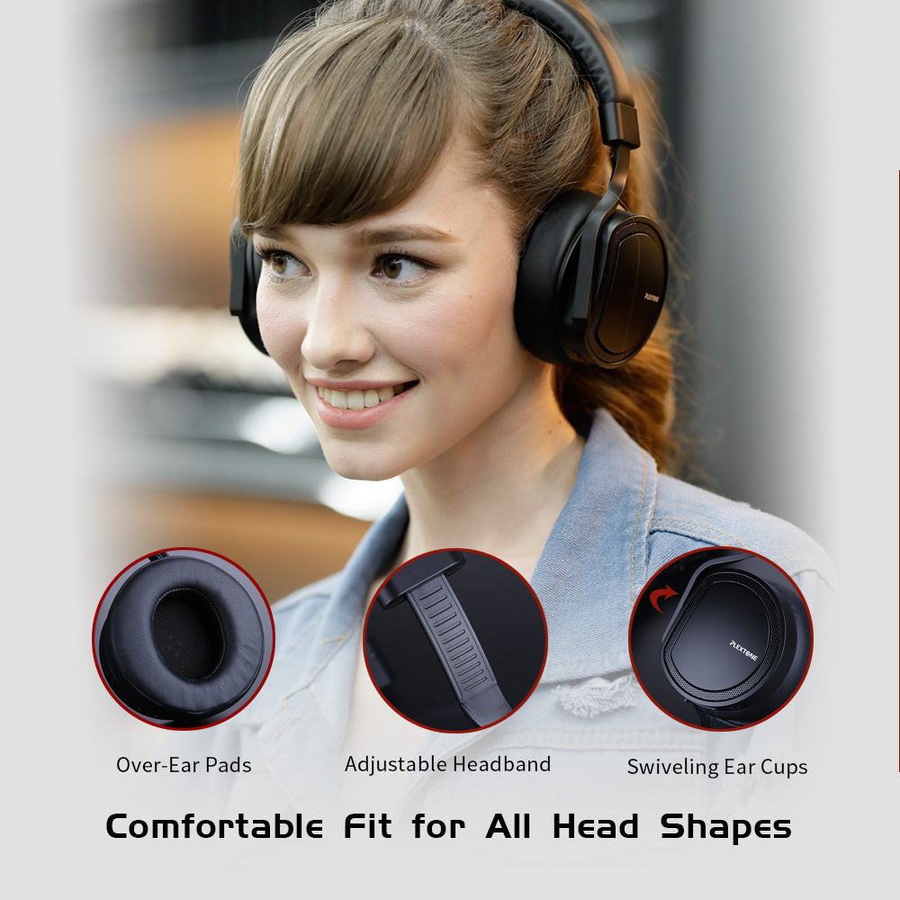 Plextone BT270 On-Ear Bluetooth Headset Hi-Fi Stereo UP to 30hours Adjustable with Mic (800mAh)