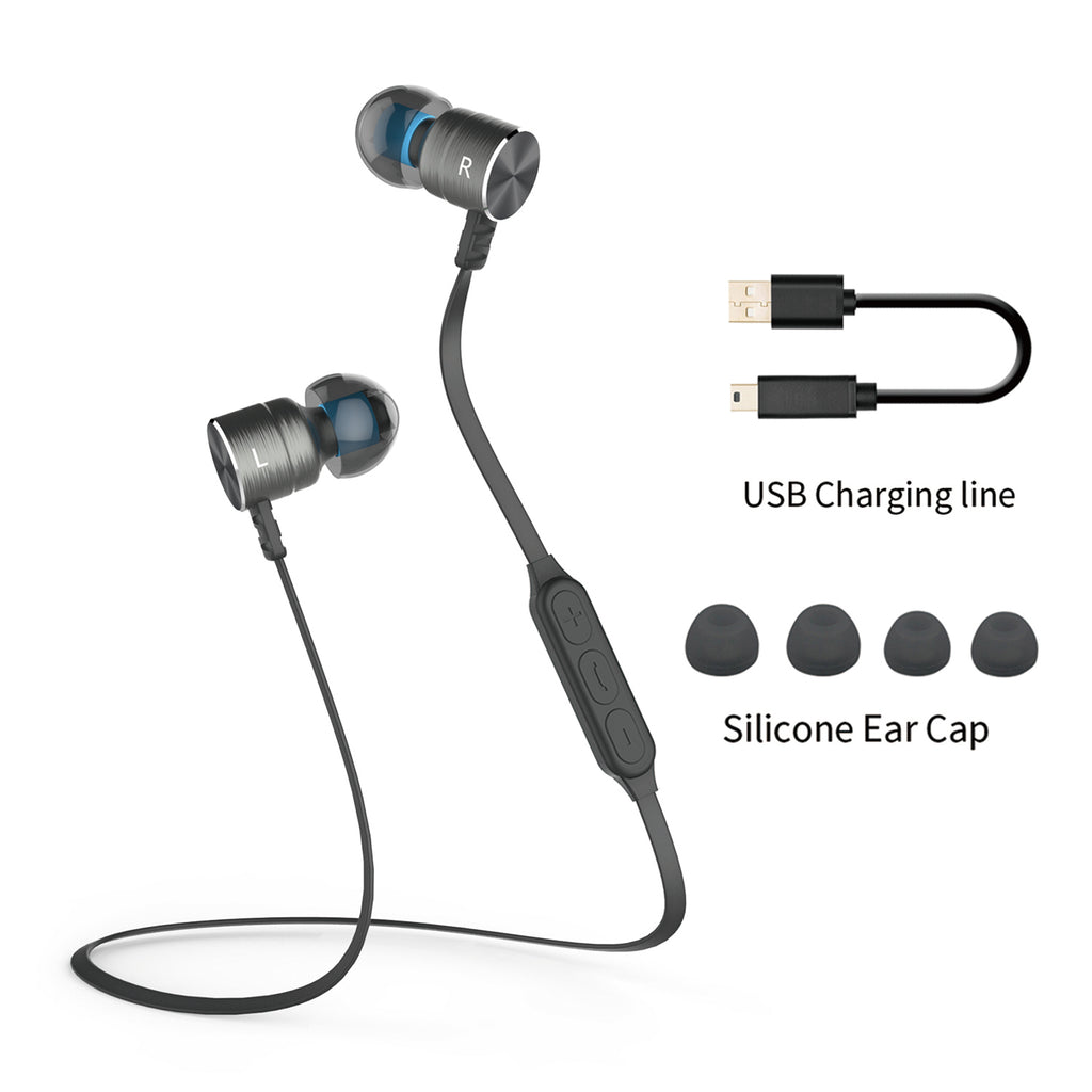 Plextone BX325 Bluetooth Headphone with Magnetic Universal In-Ear Deep Bass Stereo