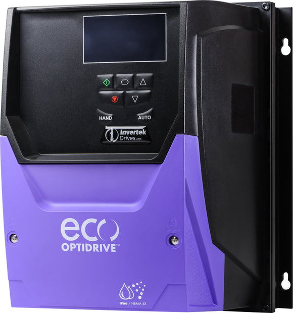 ECO IP66 0.75kW, 3Ph. Input, 3Ph. Output, 380-480V, EMC Filter, OLED Display