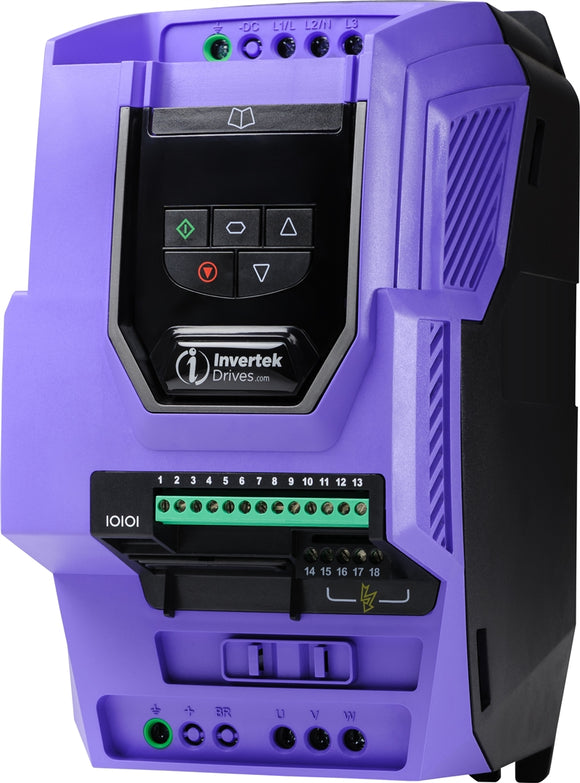 PLUS 11,0kW, IP20, 3Ph. Input, 3Ph. Output, 380-480V, EMC Filter, Brake Chopper, LED Display