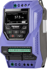 ECO IP20 0.75kW, 1Ph. Input, 3Ph. Output, 200-240V, EMC Filter, TFT Display