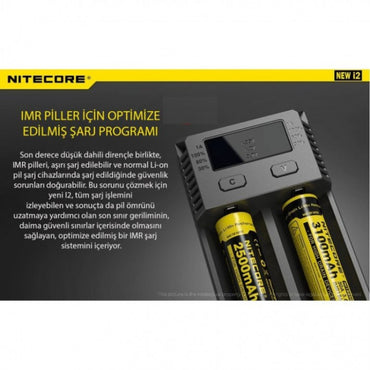 Nitecore New İ2 İntelli Charger Li-İon 2'li Pil Şarj Cihazı