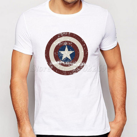 T-Shirt Bouclier Captain America Homme - Make It Pop - Boutique