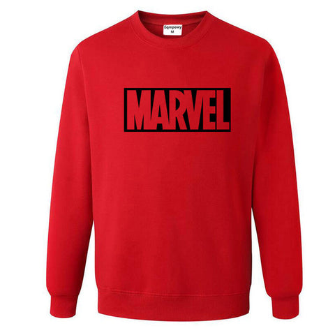 Pull Logo Marvel Original Homme Rouge Noir - Make It Pop - Boutique